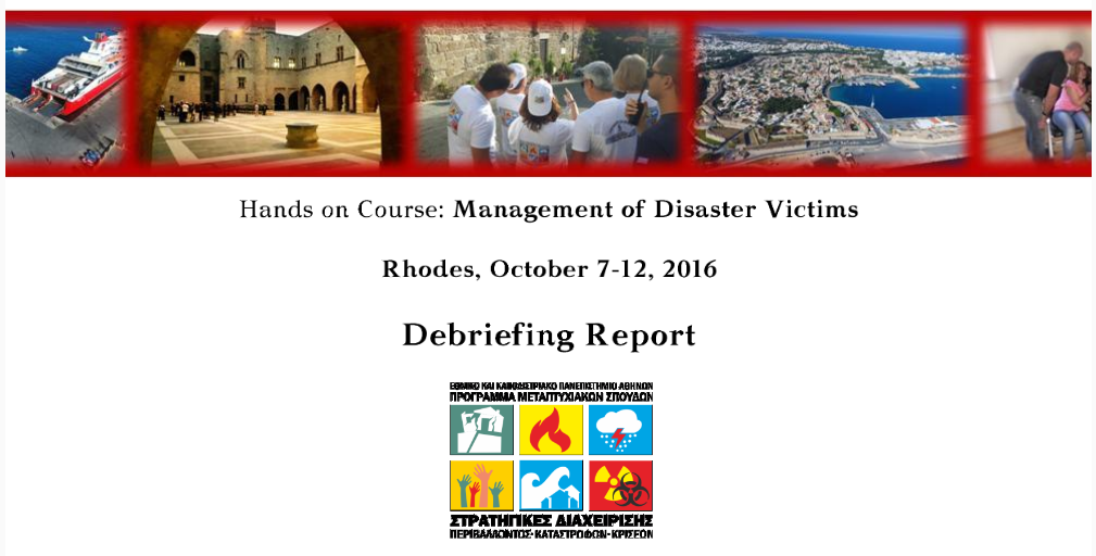 Rhodes Debriefing Report